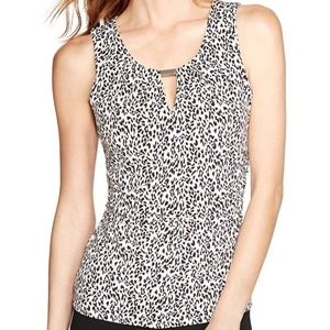 WHBM animal print blouse